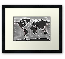 Volcanoes of the World - Miller Projection Print Framed Print
