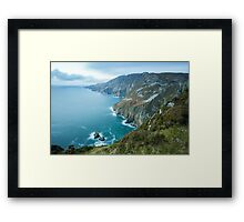 Slieve League sea cliffs in Co. Donegal Framed Print
