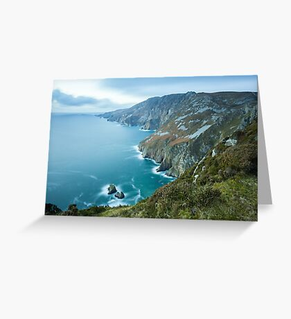 Slieve League sea cliffs in Co. Donegal Greeting Card