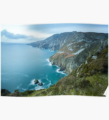 Slieve League sea cliffs in Co. Donegal Poster