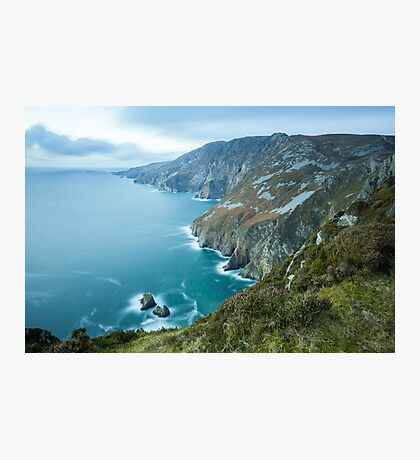 Slieve League sea cliffs in Co. Donegal Photographic Print