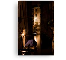 Softly Lit Canal Canvas Print