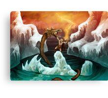 Thor versus Jörmungandr Canvas Print