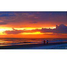 Beach romance Photographic Print
