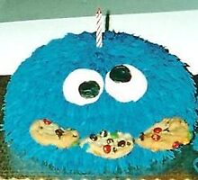Cookie Monster Cake by Lambservant