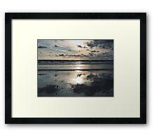 Evening on the beach Framed Print