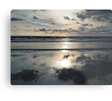 Evening on the beach Metal Print
