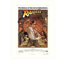 Raiders of lost ark indiana jones Art Print