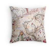 Frog Forest Throw Pillow