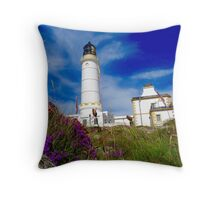Sunny Corsewall Lighthouse Hotel. Throw Pillow