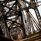 Urban Train Bridge Over The Mississippi River by Carolyn Chentnik