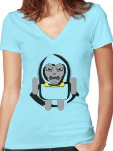 DoomDROID (basic screened variant) Women's Fitted V-Neck T-Shirt