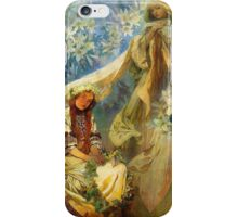 Alphonse Mucha - Madonna of the lilies iPhone Case/Skin