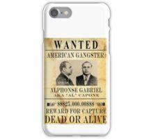 Al Capone Wanted iPhone Case/Skin