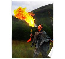 Fire Breather in Glenfinnan Poster