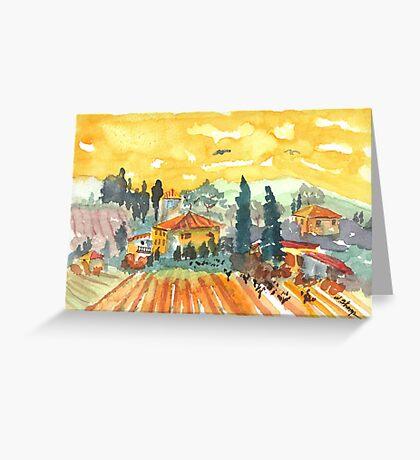 Golden Vineyard Greeting Card