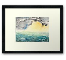 The Light is Coming Through Framed Print