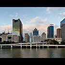 Brisbane CBD panorama, from Southbank by Richard Majlinder
