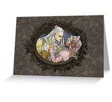 Demon Ball detail: The demon fairy Greeting Card