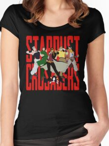 Stardust Crusaders Women's Fitted Scoop T-Shirt