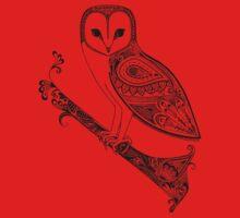 Intricate barn owl One Piece - Short Sleeve