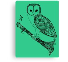 Intricate barn owl Canvas Print