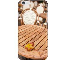 Yellow old autumn leaf fallen iPhone Case/Skin