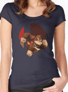 I Main Donkey Kong Women's Fitted Scoop T-Shirt
