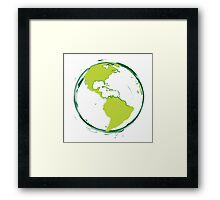 Green Planet Earth Framed Print