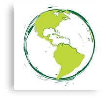 Green Planet Earth Canvas Print