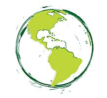 Green Planet Earth Photographic Print