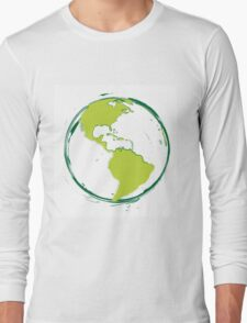 Green Planet Earth Long Sleeve T-Shirt