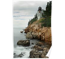Bass Harbor Head Lighthouse at High Tide Poster