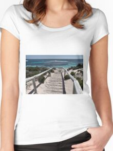 Sandy Steps  Women's Fitted Scoop T-Shirt