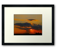 The last exclamation of the day Framed Print