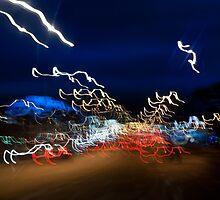 Cars driving motion night lights by Arletta Cwalina