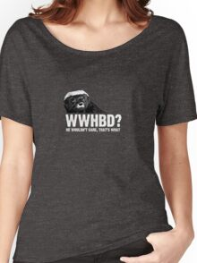 WWHBD - white text Women's Relaxed Fit T-Shirt