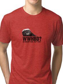WWHBD - black text Tri-blend T-Shirt