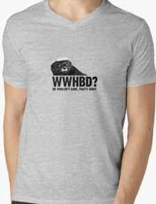 WWHBD - black text Mens V-Neck T-Shirt
