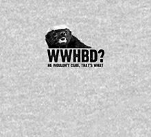 WWHBD - black text T-Shirt