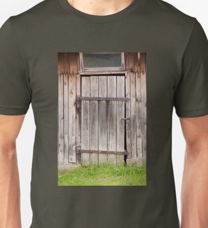 old shed dilapidated cubby door Unisex T-Shirt