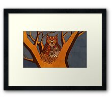 Great horned owl and babies Framed Print