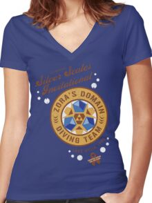 Silver Scales Invitational Women's Fitted V-Neck T-Shirt