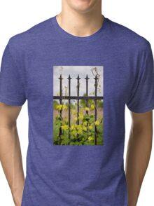 Climbing Humulus hops plant Tri-blend T-Shirt