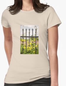 Climbing Humulus hops plant Womens Fitted T-Shirt