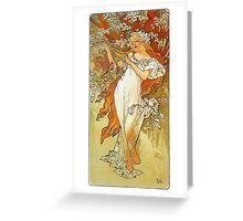 Alphonse Mucha - Spring Greeting Card