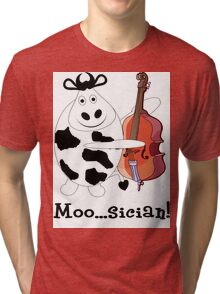 Cow Moo...sician! Tri-blend T-Shirt