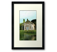 old ruin in the nature Framed Print