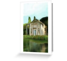 old ruin in the nature Greeting Card
