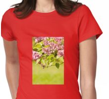 Lilac bloom vibrant pink shrub Womens Fitted T-Shirt